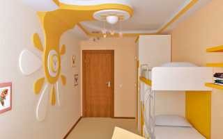 Дизайн потолка в детской комнате: современные и оригинальные идеи (+36 фото)