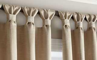 Как сделать петельки на шторы: завязать бантиком, сшить или связать крючком[Шторы
