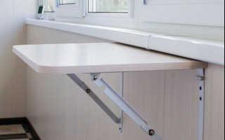 Компактный откидной столик на балкон своими руками