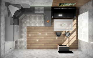 Стильная кухня гостиная 18 кв м