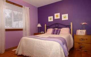 Фиолетовые обои в интерьере спальни: полезные правила (фото)