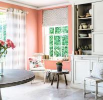 Персиковые обои: советы дизайнеров
