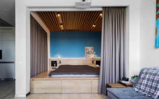 Однокомнатная квартира с кроватью в нише