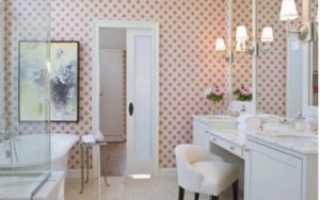 Обои для ванной комнаты: моющиеся, жидкие, самоклеющиеся